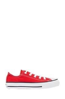 Красные текстильные кеды Converse