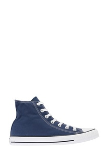 Высокие синие кеды из текстиля Converse