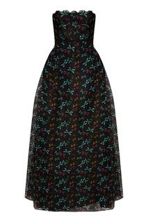 Платье-макси со стрекозами Rochas
