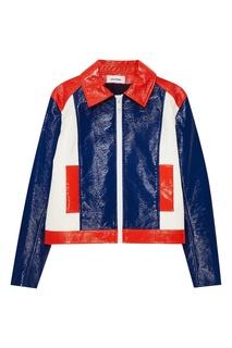 Трехцветная куртка с лакированным эффектом Courreges