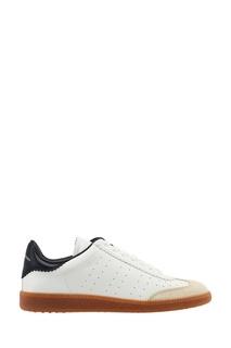 Комбинированные кроссовки из кожи Isabel Marant