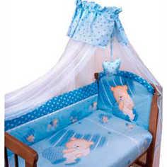 Комплект постельного белья Золотой гусь Мишутка (голубой) 2102