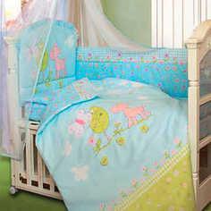 Комплект постельного белья Золотой гусь Little Friend (голубой) 2062
