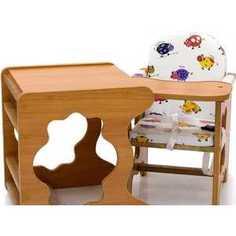 Стол-стул для кормления ПМДК Премьер (бычок/светлый орех/лдсп)