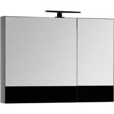 Зеркальный шкаф Aquanet Верона 90 черный (камерино) (172340)