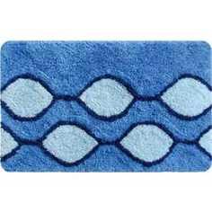 IDDIS Curved Lines Blue Коврик для ванной 50*80 см, акрил (400A580I12)
