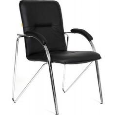 Офисный стул Chairman 850 экокожа Terra 118 черная (собр.)