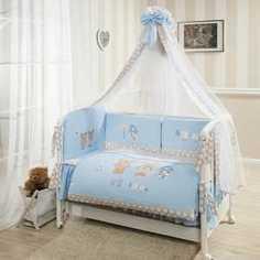 Комплект постельного белья Perina Венеция Лапушки Голубой В3-02.4 ПЕРИНА