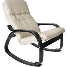 Кресло-качалка Мебель Импэкс Сайма экокожа (018.002) бежевая