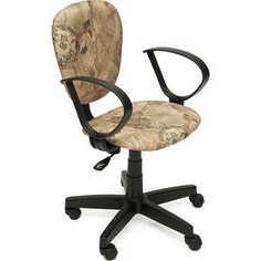 Кресло офисное TetChair СН413 принт Карта на бежевом