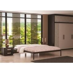 Кровать Стиллмет Аура коричневый бархат 180х200
