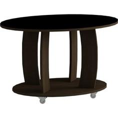 Журнальный стол MetalDesign Смарт MD 738.02.01 корпус-венге/ стекло-черный
