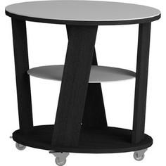 Журнальный стол MetalDesign Смарт MD 736.01.11 корпус-черный/ стекло-белый