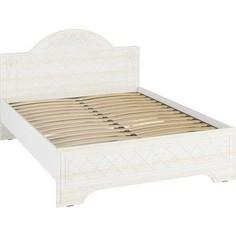 Кровать Compass СО-1 Премиум 160х200 белый струк ясень патина