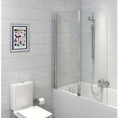 Шторка для ванной Cersanit Easy 140x115, двойная, прозрачная (P-PN-EASY*115)