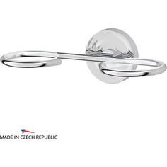 Держатель мыльницы и стакана/емкости для жидкого мыла Ellux Elegance, для ELU 001, ELU 002, ELU 003, ELU 004, ELU 005, ELU 006, хром (ELE 008)