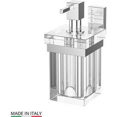 Держатель с емкостью для жидкого мыла Lineag Tiffany Lux хром - стразы (TIF 906)