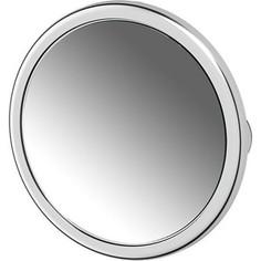 Косметическое зеркало на вакуумных присосках x5 Defesto Pro хром (DEF 103)