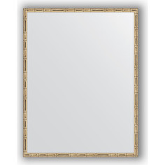 Зеркало в багетной раме Evoform Definite 67x87 см, серебряный бамбук 24 мм (BY 0677)