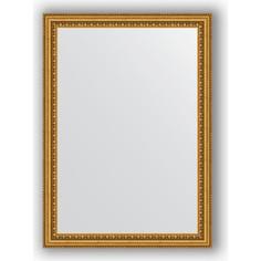 Зеркало в багетной раме Evoform Definite 52x72 см, бусы золотые 46 мм (BY 0792)