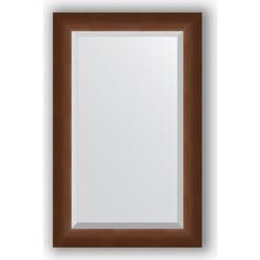 Зеркало с фацетом в багетной раме Evoform Exclusive 52x82 см, орех 65 мм (BY 1137)