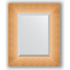Зеркало с фацетом в багетной раме Evoform Exclusive 46x56 см, травленое золото 87 мм (BY 1363)