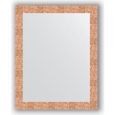 Зеркало в багетной раме Evoform Definite 76x96 см, соты медь 70 мм (BY 3274)