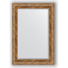 Зеркало с фацетом в багетной раме Evoform Exclusive 65x95 см, виньетка античная бронза 85 мм (BY 3436)