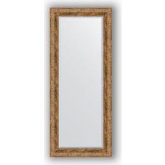 Зеркало с фацетом в багетной раме Evoform Exclusive 60x145 см, виньетка античная бронза 85 мм (BY 3540)