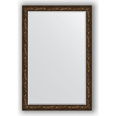 Зеркало с фацетом в багетной раме Evoform Exclusive 119x179 см, византия бронза 99 мм (BY 3625)