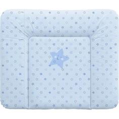 Матраc пеленальный Ceba Baby 70*85 см мягкий на комод Stars blue W-134-066-160