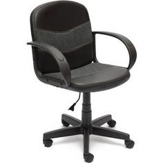 Кресло TetChair BAGGI кож/зам/ткань, черный/серый, 36-6/207