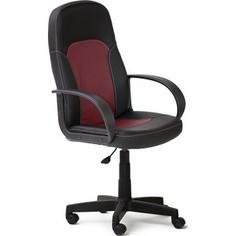 Кресло TetChair PARMA кож/зам, черный/бордо, 36-6/36-7