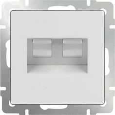 Розетка двойная Ethernet RJ-45 Werkel белая WL01-RJ45+RJ45