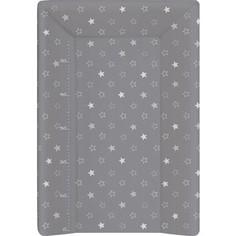 Матрас пеленальный Ceba Baby (Себа Беби) 70 см с изголовьем на кровать 120*60 см Stars dark grey W-201-066-265