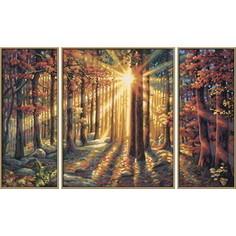 Картина по номерам Schipper Триптих Осенний лес, 50х80 см