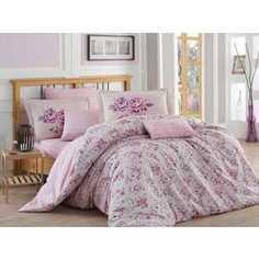 Комплект постельного белья Hobby home collection 2-х сп, поплин, Flora, лиловый (1607000052)