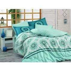 Комплект постельного белья Hobby home collection 2-х сп, поплин, Silvana, синий (1607000086)