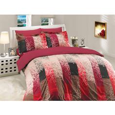 Комплект постельного белья Hobby home collection Евро, поплин, Alandra , бордовый (1501000027)