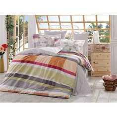 Комплект постельного белья Hobby home collection 2-х сп, поплин, Alanza, серый (1501000897)