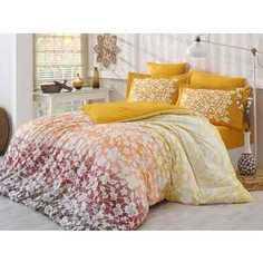 Комплект постельного белья Hobby home collection 2-х сп, поплин, Mira, горчичный (1501000904)