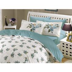 Комплект постельного белья Hobby home collection 1,5 сп, поплин, Paris Spring, бирюзовый (1501000147)