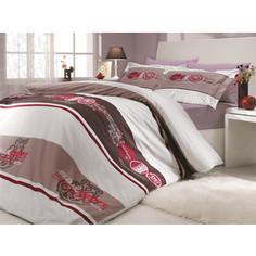 Комплект постельного белья Hobby home collection 2-х сп, поплин, Rota, бордовый (1501000683)
