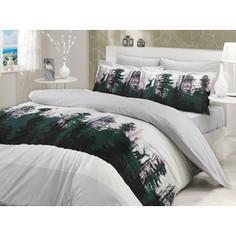 Комплект постельного белья Hobby home collection 2-х сп, поплин, Tierra, серый (1501000705)