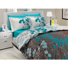 Комплект постельного белья Hobby home collection 2-х сп, поплин, Ventura, бирюзовый (1501000711)