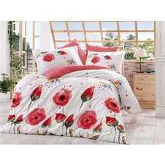 Комплект постельного белья Hobby home collection 2-х сп, поплин, Veronika, красный (1501000906)