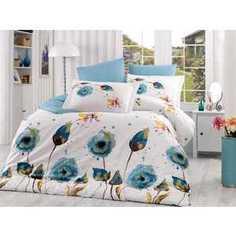 Комплект постельного белья Hobby home collection 2-х сп, поплин, Veronika, бирюзовый (1501000905)