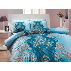 Комплект постельного белья Hobby home collection Евро, ранфорс, Almeda, синий (1501000203)