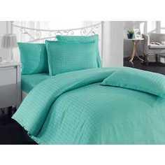 Комплект постельного белья Hobby home collection Евро, бамбук, Diamond Houndstooth, зеленый (1501000801)