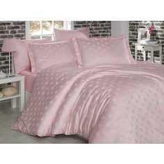 Комплект постельного белья Hobby home collection Евро, бамбук, Diamond Spot, нежно-розовый (1607000035)
